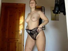 Chubby amateur stripping