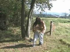 My Chubby Ex Girlfriend Flashing in a Farmers field