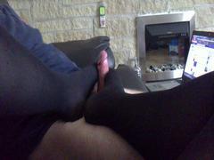 fireman boyfriend with his nylon foot fetish (2)