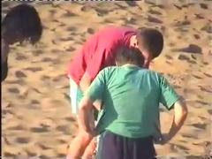 Changing at the beach