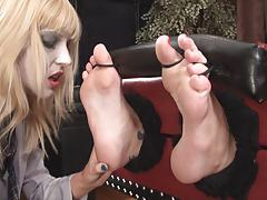 Doctor foot loved and tickled by....ZOMBIE