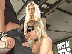 Sexy blonde gets  - kinky fetish sex