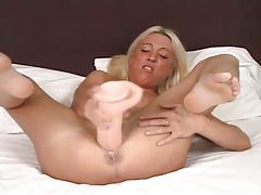 Blonde milf goes extreme