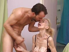 French ugly mature slut Marie-The anorexique