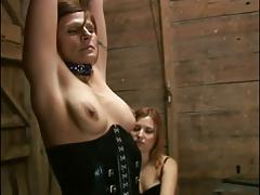 Dominatrix slut tortures sexy guy