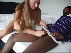 My wife licking small black cock