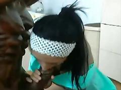 Azazing STATUE blowjob and own feet licking (beautiful girl)