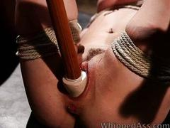 Tied up spanked and dominated