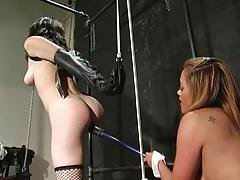 Bondage girl getting punished