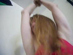 Redhead MILF Lady Holly gets tied up and dripping wet