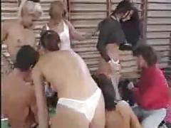 German Teen Gym Orgie