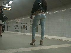 Heels and nice ass in jeans