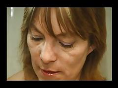 FRENCH MATURE n42blonde anal hairy mom with a younger man
