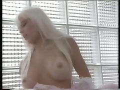 Blonde beauty has staircase sex NA