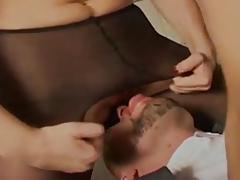 Ashley Dark HOT Lesbian Kissing scene and cumshot