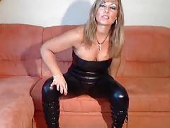 blonde german in catsuit