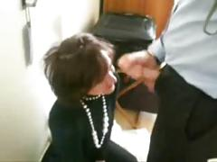 french secretary sucks at the office