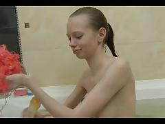 TEEN n25 petite slim blonde russian teen in her bath