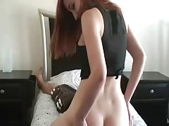 Kinky redhead rubs your face