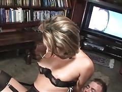 British slut Renee Richards gets fucked after watching porn