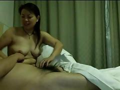 Couple old in hotel room