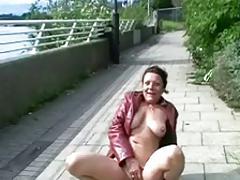 dirty British matureslut on public
