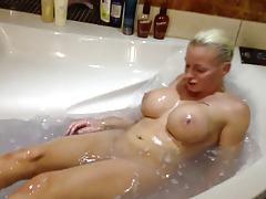 Aniela: Fake Tit Bimbo Takes A Bath