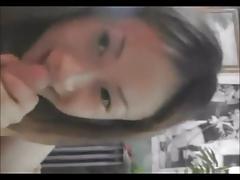 Big boobs asian girl gives boobjob and blowjob