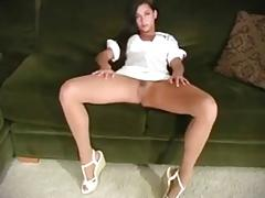Georgia Jones Plays In Various Pantyhose
