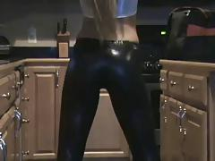 British blonde showing off her ass