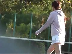 Sports Voyeurism. Tennis pulse upskirt 1