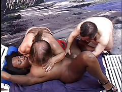 Black Girl sucking and fucking 2 little lifeguards