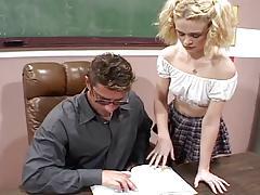 Cute Blonde Fucks Her Teacher