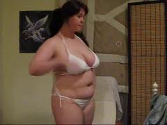 Hot BBW showing her body