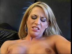 Hot Blonde Smoking and Toying