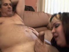 BBW Tattoo Woman gets cum on her face