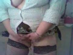 Horny Blonde BBW Ex Girlfriend showing Tits, Ass and Pussy