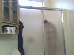 Chubby Ex Girlfriend taking a shower on Hidden Cam