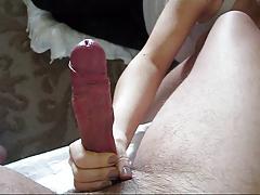 Handjob Uncut Cock Long Foreskin