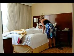 His Friend's Milfy Mom Wakes Him Up
