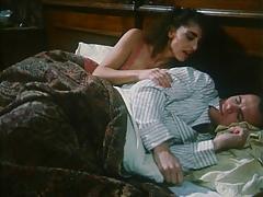 Sarah Young masturbating on bed