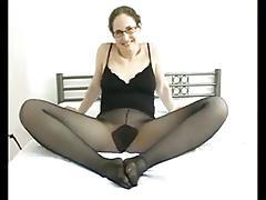 Pantyhose striptease