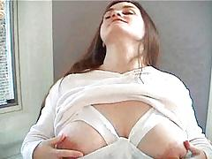 Pregnant Katies Garden - milking breast