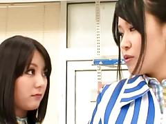 Japanese Lesbians (My woman is sexing another girl at work)