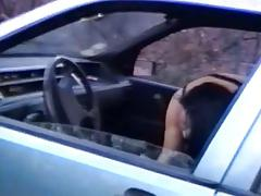 Italian brunette dogging adventure