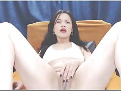 Cute latin girl squirting on camshow 2