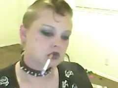 Sexy Goth Smoking Fetish