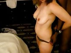Redhead wife with her black stud