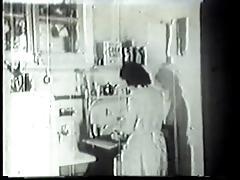 Handyman fucks horny housewife in vintage porn