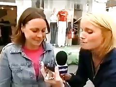 Public lesbian kissing